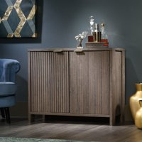 Sauder International Lux Accent Storage Cabinet, Fossil Oak Finish