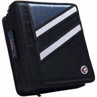 Case-it 1.5 inch dual-z zipper binder with 3 inch capacity, black