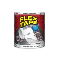 Flex Tape Rubberized Waterproof Tape, 4 inches x 5 feet, White