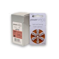 PowerOne Hearing Aid Batteries Size 312, PR41 (120 Batteries) + 2 Cell Battery Keychain KitP312