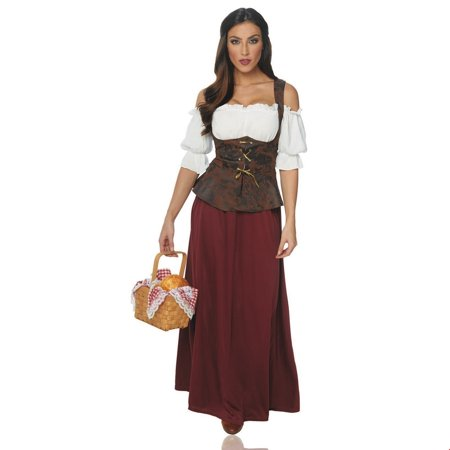 Women's Peasant Lady Halloween Costume](Halloween Time)
