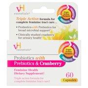 vH Essentials Probiotics with Prebiotics & Cranberry Feminine Health Capsules, 60 count