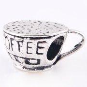 Coffee Cup Charm for Pandora Bracelets - Pandora Necklaces