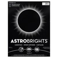 "Astrobrights Colored Cardstock, 8.5"" x 11"", 24 lb/89 gsm, Eclipse Black, 50 Sheets"
