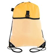 8f27640e4 Mato & Hash Drawstring Cinch Bag Backpack With Mesh Pocket Polyester Tote  Sack - Athletic Gold