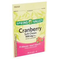 Spring Valley Cranberry Soft Chews, 500 mg, 30 count