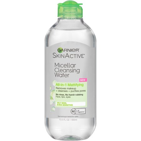 Garnier SkinActive All-in-1 Mattifying Micellar Cleansing Water 13.5 fl. oz. Squeeze Bottle