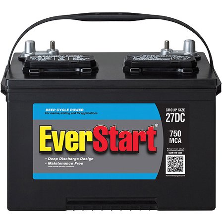 Everstart Lead Acid Marine Rv Battery Group 27dc Walmart Com