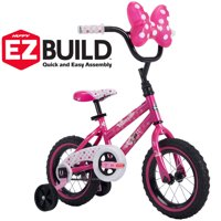 "Disney Minnie 12"" Girls' EZ Build Pink Bike, by Huffy"