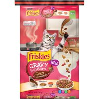 Friskies Gravy Swirlers Adult Dry Cat Food, 16 lb