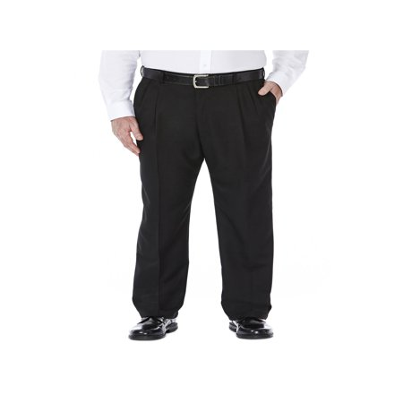 Haggar Men's Big & Tall Cool 18® Solid Pleat Front Pant Classic Fit 41714529486 ()