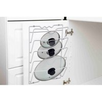Home Basics Wall or Cabinet Mount Pot Lid Rack Organizer