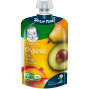 Gerber 2nd Foods Organic Baby Food, Pear, Mango & Avocado, 3.5 oz. Pouch