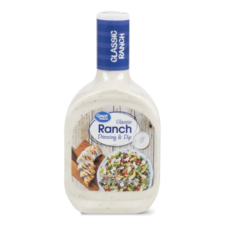 (2 Pack) Great Value Classic Ranch Dressing & Dip, 36 fl oz
