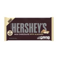 Hershey's Giant Milk Chocolate with Almonds Candy Bar, 6.8 Oz.