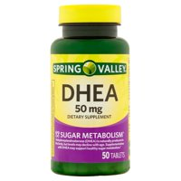 Spring Valley DHEA Tablets, 50 mg, 50 Ct