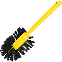 """Rubbermaid Commercial, RCP632000BRN, 17"""" Handle Toilet Bowl Brush, 1 Each, Brown,Yellow"""