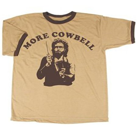 SNL Saturday Night Live More Cowbell Vintage Tan with Brown Ringers T-Shirt