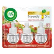Air Wick Scented Oil 3 Refills, Apple Cinnamon Medley, (3X0.67oz), Air Freshener