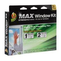 Duck MAX Heavy-Duty Shrink Film Window Kit, Extra Large Patio Door