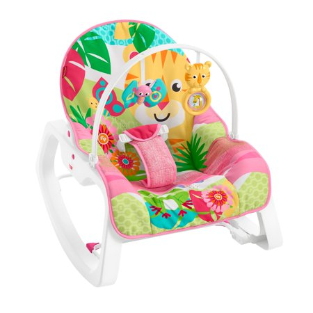 Infant Newborn Rocking Chair - Fisher-Price Infant-To-Toddler Rocker, Teal Safari with Removable Bar