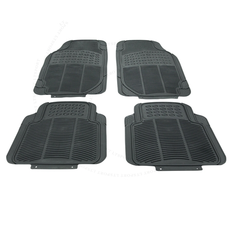 Fit Honda Floor Mat Rubber Carpet 4pcs All Weather Waterproof Deep Dish Protect For Accord Accord Crosstour Civic