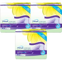 (3 Pack) Tena Incontinence Underwear For Women, For Overnight, Medium, 16 Count