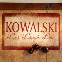 "Personalized Live, Laugh, Love Doormat 17""x27"""