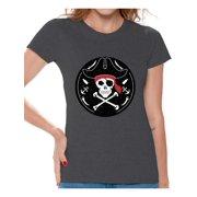 Awkward Styles Jolly Roger Tshirt For Women Pirate Skull Shirt T Dia