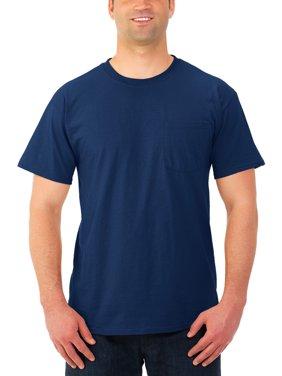 Men's Dri-Power Crewneck Short Sleeve Pocket T Shirt, 3 Pack