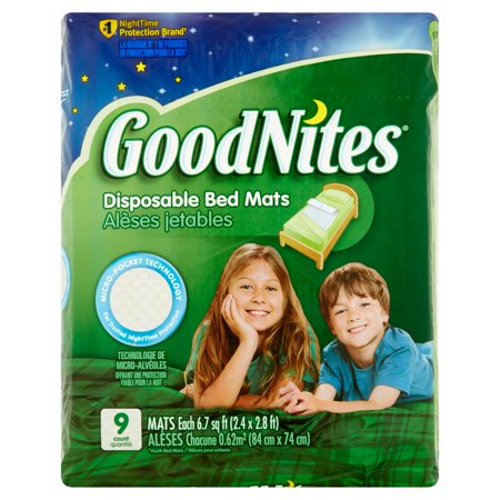 GoodNites Disposable Bed Mats, 9 (Good Notes)
