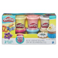 Play-Doh Confetti Compound 6 Pack with 2 Tools