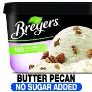 Breyers No Sugar Added Frozen Dairy Dessert Butter Pecan 48 oz