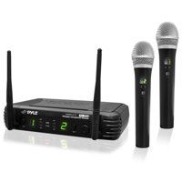 Pyle PDWM3375 - Premier Series Professional 2-Channel UHF Wireless Handheld Microphone System with Selectable Frequencies