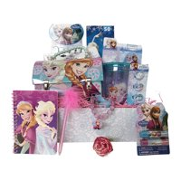 Valentine Gift Basket Idea 10 Frozen Themed Items for Girls With Bracelet, Novelties, Tin Purse, Diary, Nail and Hair Accessories