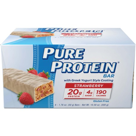 Pure Protein Bar, Strawberry Greek Yogurt, 20g Protein, 6