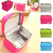 """Meigar 6.29""""X4.33""""X4.52"""" Insulated Waterproof Thermal Cooler Picnic Lunch Bag Storage Box Carry Tote for Students Children Kids"""