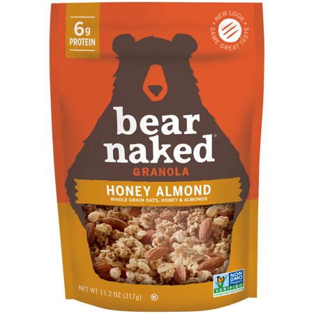 (2 Pack) Bear Naked Soft Baked Granola, Honey Almond, 11.2 Oz