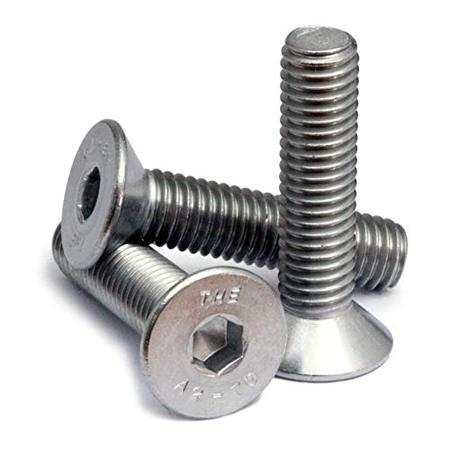 (50) M8-1.25 x 40mm (FT) - Stainless Steel Flat Head Socket Caps Screws Countersunk DIN 7991 - A2-70/18-8 - MonsterBolts (50, M8 x 40mm) ()