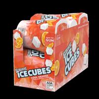 Ice Breakers, Ice Cubes, Sugar Free Cool Orange Chewing Gum, 3.24 Oz, 6 Ct