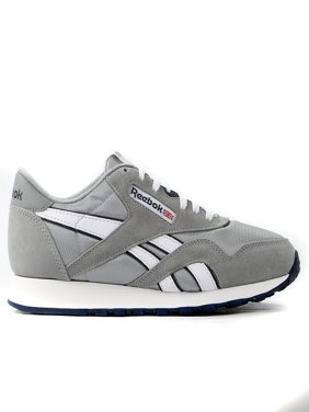 Reebok Classic Nylon Running Shoe - Platinum/Jet Blue - Mens