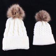 Binmer Mom And Baby Knitting Keep Warm Hat
