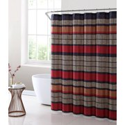 Mainstays Preston Geometric Stripe Fabric Shower Curtain 1 Each