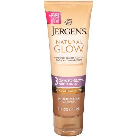 Jergens Natural Glow 3 Days to Glow Moisturizer, Medium to Tan Skin Tones, 4