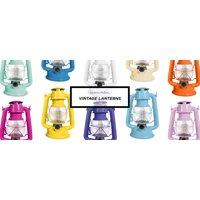 Northpoint LED Lantern, 12-LED 150-Lumen Lantern, Copper Indoor Outdoor Lantern, Home Decor Vintage Lantern, Battery Operated Hanging or Tabletop Hurricane Lantern
