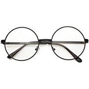 aa66ca217f Metal Frame John Lennon Circle Lens Round Eyeglasses - Black
