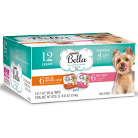 Purina Bella Bundle of Joy With Grilled Chicken & Beef Flavors Adult Wet Dog Food Variety Pack - (12) 3.5 oz. Trays