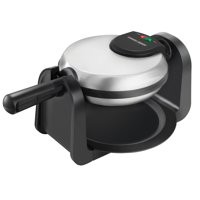 BLACK+DECKER Belgian Flip Waffle Maker, Black/Silver, WM1404S