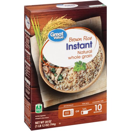 Great Value Instant Brown Rice, 28 (Brown Rice Shells)