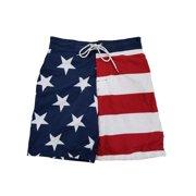 8bd479d410dda Mens USA Patriotic US Flag American Flag Swim Trunks Board Shorts